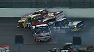 Four Truck pile up early at Kansas - 2014