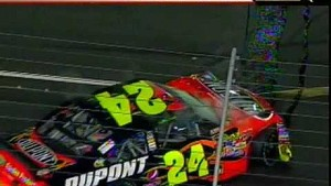 Gordon wrecks in 3-wide battle for the win - 2009 All-Star Race
