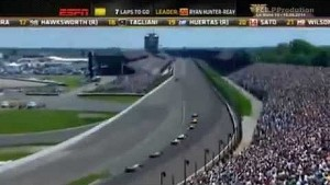 2014 Indy 500 Final Laps & Finish