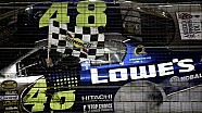 5/29/05 - Charlotte - Johnson's last lap pass of Labonte claims third consecutive Coca-Cola 600 win