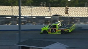 Matt Crafton pounds wall after RF failure - 2014 NASCAR CWTS at Dover