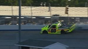 Matt Crafton pounds wall after RF failure - 2014 NASCAR CWTS at Dover