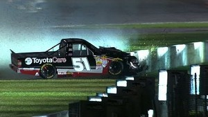 Leaders crash as they battle for win! NASCAR Trucks at Gateway - 2014