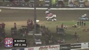 Highlights: World of Outlaws STP Sprint Cars 34 Raceway June 27th, 2014