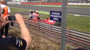 Kimi Räikkönen Huge Crash Silverstone