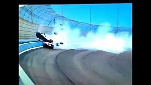 Indycar 2014 Fontana Practice Crash Andretti Kimball Aleshin