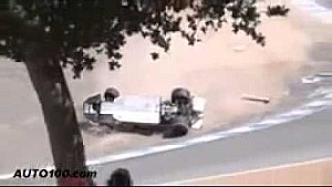Spectacular F1 crash at Laguna Seca in slow motion