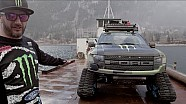 Monster Energy: Ken Block showcases his Ford F-150 RaptorTRAX