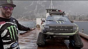 Monster Energy: Ken Block showcases his Ford F-150 RaptorTRAX