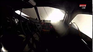 Onboard replay of the massive crash at the 2015 Roar Before The 24