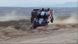 2012 Laughlin Desert Challenge Trucks wreck simultaneously