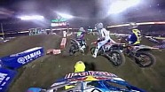 Helmet cam - Ken Roczen Main Event 2015 Monster Energy Supercross from Anaheim 3
