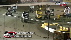 Highlights: World of Outlaws Sprint Cars Volusia Speedway Park February 14th, 2015