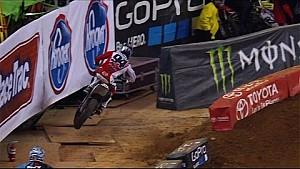 Ken Roczen's first crash during qualifying in Atlanta - 2015 Supercross