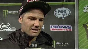 Chad Reed post-race interview on the top step of the podium