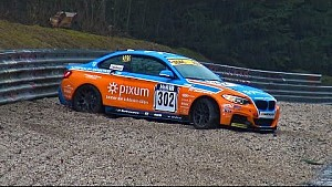 BMW M235i Racing Crash on a very wet day at the Nürburgring