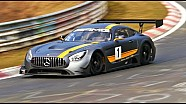 The new Mercedes AMG GT3 testing at the Nürburgring