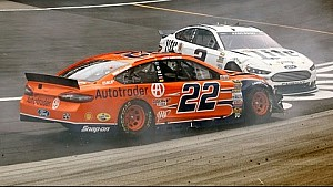 Logano and Keselowski bring out first caution