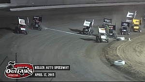 Highlights: World of Outlaws Sprint Cars Keller Auto Speedway April 17th, 2015