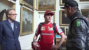Kimi Raikkonen meets Ken Block and Lord March