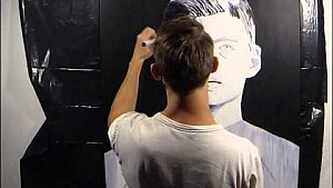 Max Verstappen painting time lapse