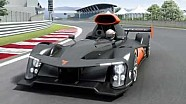 GreenGT H2 fuel-cell hydrogen racecar - Le Mans 2013 - animation