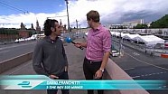 Dario Franchitti and Jack Nicholls walk the Moscow ePrix circuit