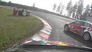 Timmy Hansen onboard camera: crazy last lap at Holjes RX Supercar Final