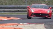 Sebastian Vettel prueba el Ferrari F12 Berlinetta