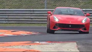 Sebastian Vettel tests Ferrari F12 Berlinetta
