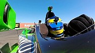 Onboard cockpit view with Sébastien Bourdais at Sonoma
