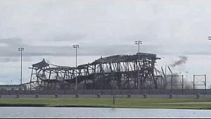 Daytona International Speedway superstretch grandstand implosion