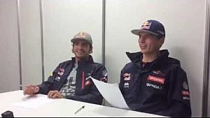 Kvyat teaches Sainz and Verstappen the Russian language