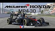 La McLaren Honda MP4-30 arrive le 8 décembre dans iRacing