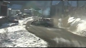 Ott Tanak crashes at Rally Monte Carlo