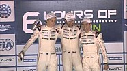 Podium for the World Champion - Porsche Webber/Hartley/Bernhard