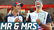 Mr & Mrs: Bruno Senna and his Mechanic Andreas - Formula E
