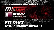 Pit Chat with Clement Desalle MXGP of Qatar 2016