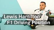 لويس هاميلتون يشرح وضعيته في الجلوس داخل سيارة فورمولا واحد