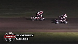 Highlights: World of Outlaws Craftsman Sprint Cars Stockton Dirt Track March 19th, 2016