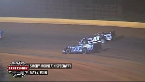 World of Outlaws Craftsman Late Models Smoky Mountain Speedway May 7th, 2016 | HIGHLIGHTS