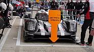 24 Heures du Mans 2016 - Porsche LMP1 s'entraine au pit-stop !