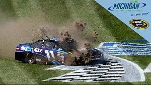 Hamlin blows tire, goes for wild spin