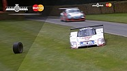 Group C Jaguar XJR12 Loses Wheel On Hillclimb