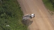 Wilder Crash bei Estland-Rallye