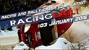 Racing and Rally Crash Compilation Week 03 January 2016