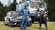 Раллийный VW Polo R WRC против КАМАЗа