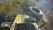 Belçika GP: Magnussen'in Eau-Rouge'da çok ciddi bir kaza geçirdi