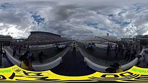 Funny Car final from Charlotte with #MelloYello360 cam the starting line