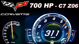 Corvette C7 Z06 0-300 Acceleration Onboard Autobahn MF-RS750 Stingray